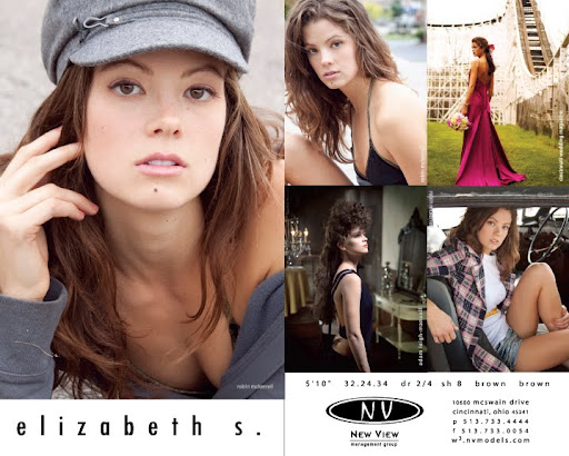 Model Comp Card Examples